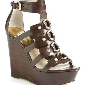 Michael Kors Wedge Gladiator Heel Sandals